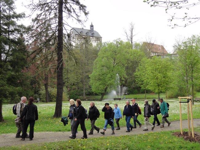 Im Schlosspark von Jössnitz